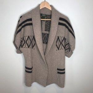 Eddie Bauer Open Front Cardigan Sweater Sz Med
